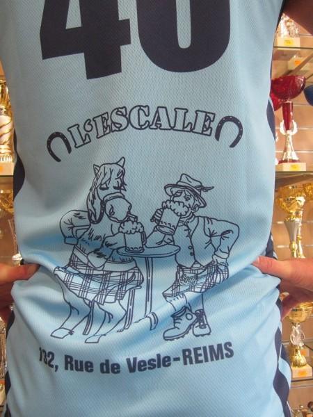 Flocage pour un maillot de foot à Reims